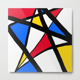 Red, Yellow, Blue Primary Abstract Metal Print