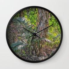 Beautiful rain forest growth Wall Clock