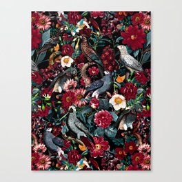 FLORAL AND BIRDS XX Canvas Print