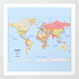 Political Map of The World - I Art Print
