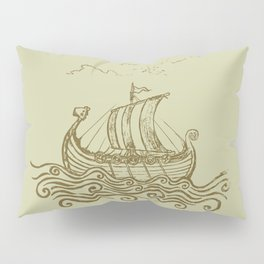 Viking ship Pillow Sham