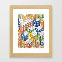House on house Framed Art Print