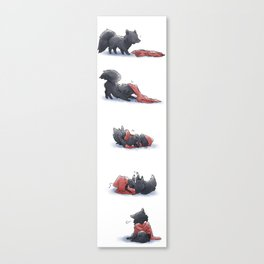 Wolf & Hoodie Canvas Print