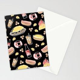 Skyline Chili Pattern Black Stationery Cards