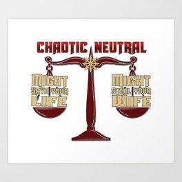 D&D - Chaotic Neutral Art Print