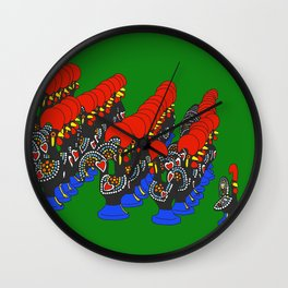 Roosters of Barcelos Wall Clock