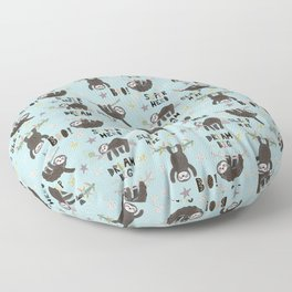 Super Hero Sloth Floor Pillow