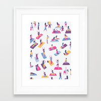 yoga Framed Art Prints featuring Yoga by Sara Maese