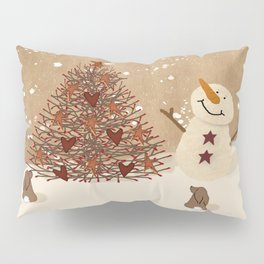 Primitive Country Christmas Tree Pillow Sham