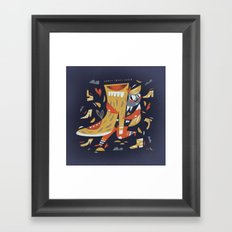 Crazy shoes lover Framed Art Print