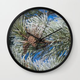 Christmas frost Wall Clock