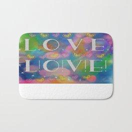 Love L.o.v.e. L!o!v!e! Bath Mat