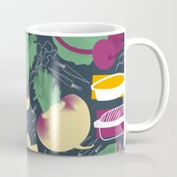 vegetables Mugs featuring Root Vegetables by Lucilight