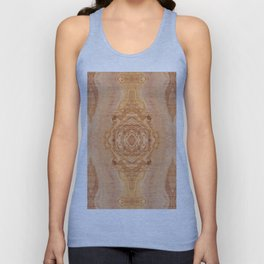 Olive wood surface texture abstract Unisex Tank Top