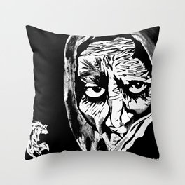Oh Grandmother What Big Eyes You Have....The Better To See You With My Dear Throw Pillow
