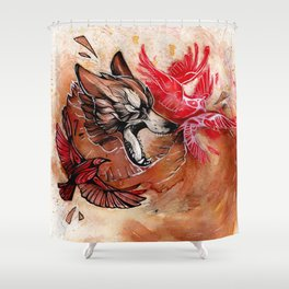WOLF GROWL Shower Curtain