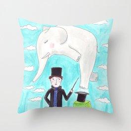 Der Zauberer und der Elefant Throw Pillow
