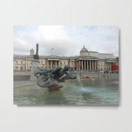 trafalgar square fountain Metal Print