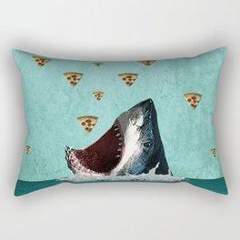 Pizza Shark Print Rectangular Pillow