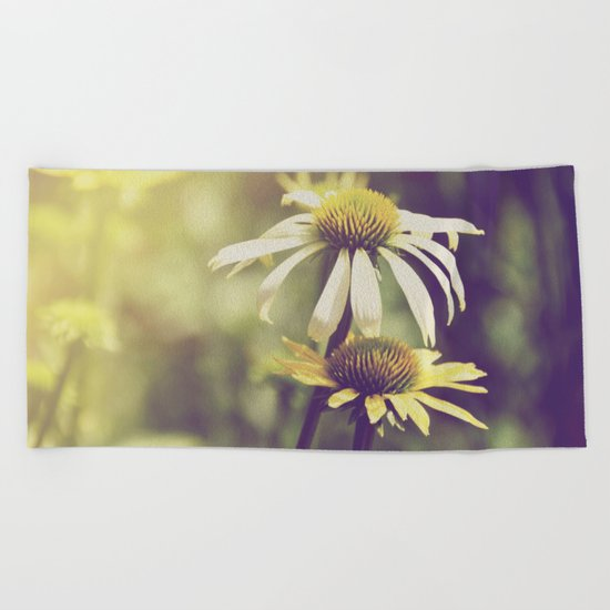 Sunshine flowers Beach Towel
