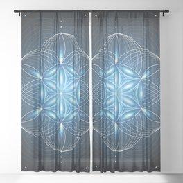Pulse | Sacred geometry Sheer Curtain
