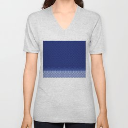 ART DECO WEIM WAVES Unisex V-Neck
