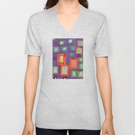 Various Frames on dotted Wall Unisex V-Neck