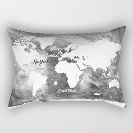 The world's most beautiful ports, map Rectangular Pillow