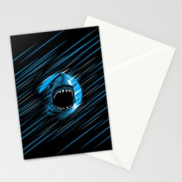 Shark Lines attack Stationery Cards