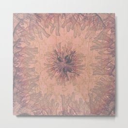 Nautique - Modern Abstract Coral Reef Rose-Gold Metal Print