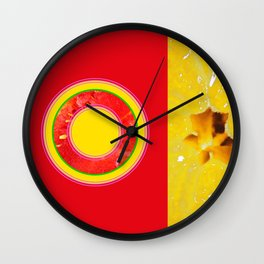 Watermelon-Lemon - Strange Fruits - Living Hell Wall Clock
