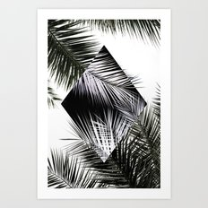Palm Leaves 3 Geometry Art Print