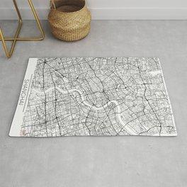 Shanghai Map White Rug