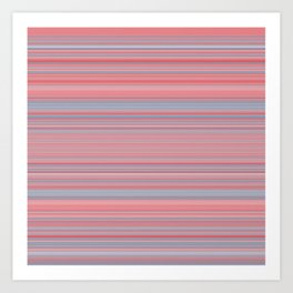 Pink Blue Stripes Art Print