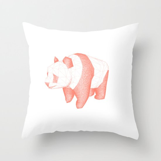 Geo Panda Throw Pillow