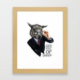 Full Of Sheep Framed Art Print