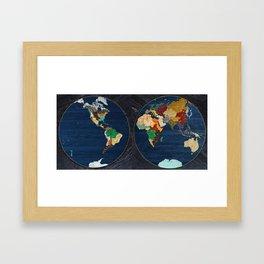 Stone Globe Framed Art Print