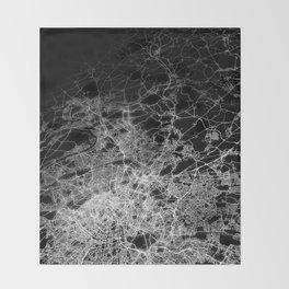 Paris map Throw Blanket