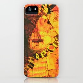 Fear Yellow iPhone Case