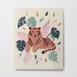 Tiger in the jungle Metal Print
