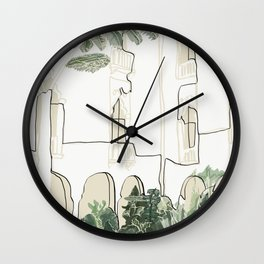 tropical architecture Wall Clock