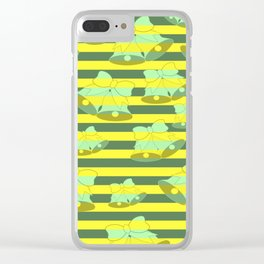 Christmas bells and stripes Clear iPhone Case