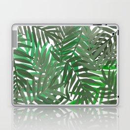 Tropical leaves : Green grey Laptop & iPad Skin