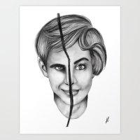 Psycho Art Print