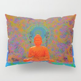 Cool Water Zen (Ultraviolet) (psychedelic, meditation) Pillow Sham