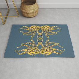 Blue-ringed Octopus Rug