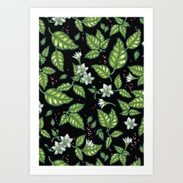 Blooming chili Art Print