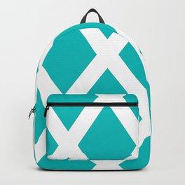 Turquoise Diamonds Backpack