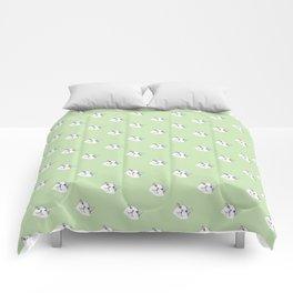 Derp Cat in Green Comforters