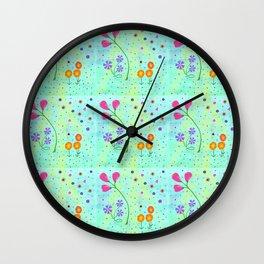 Springtime, original art, repeated Wall Clock